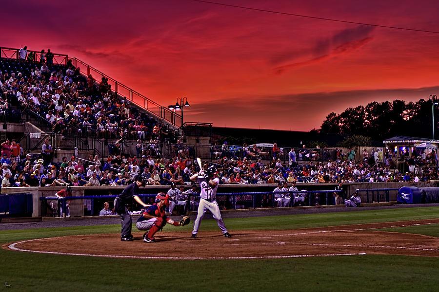Baseball Photograph - Sunset At State Mutual Stadium by Jason Blalock
