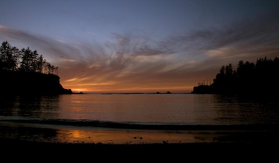 Sunset At Sunset Bay Oregon Photograph