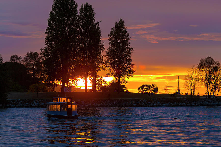 Sunset Photograph - Sunset at Sunset Beach in Vancouver BC by David Gn