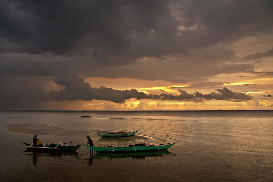 Seascape Photograph - Sunset At Tabuena Beach 1 by George Cabig