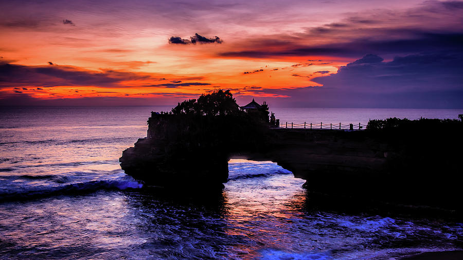 Sunset at Tanah Lot by Kevin McClish