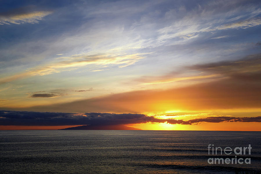 Sunset At The Canary Island La Palma Photograph