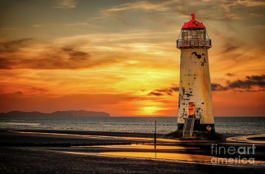 Sunset Photograph - Sunset At The Lighthouse by Adrian Evans