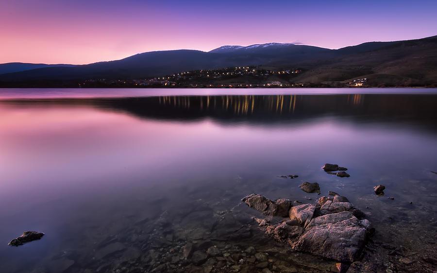 Sunset At The Lozoya Valley Photograph