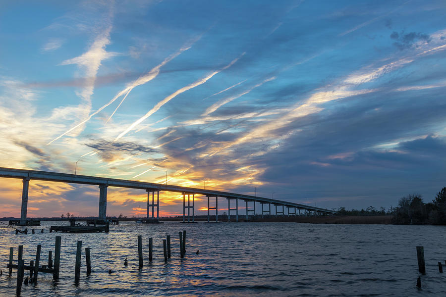 Sunset at the Old Pungo Ferry Landing by Brian Knight