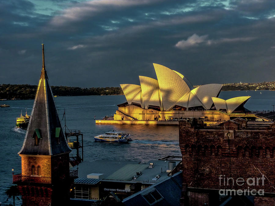 Sydney Photograph - Sunset At The Opera  by Julie Chambers