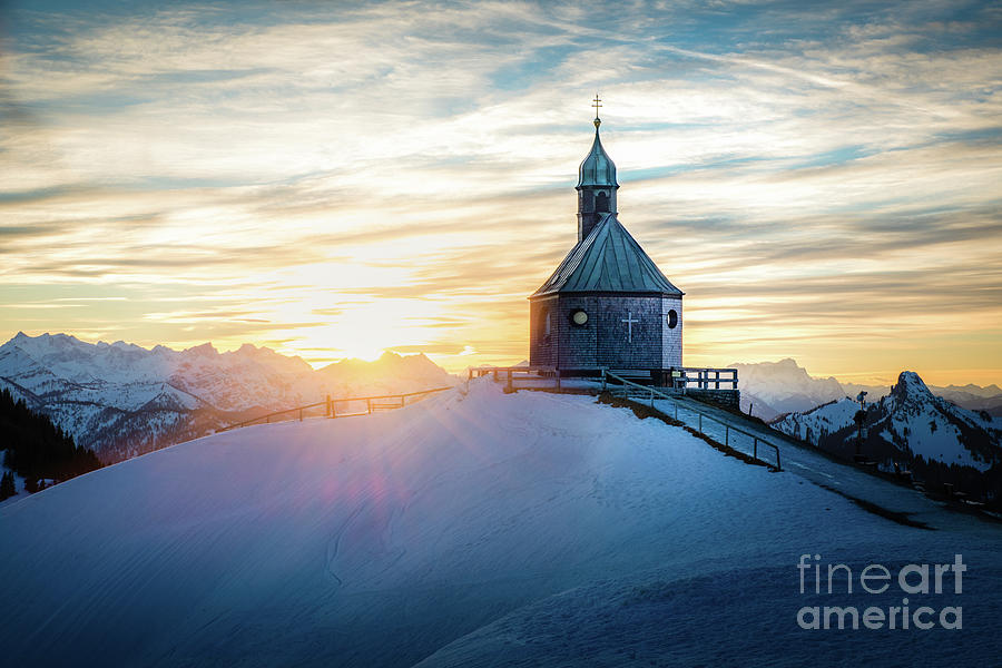 sunset at the top by Hannes Cmarits