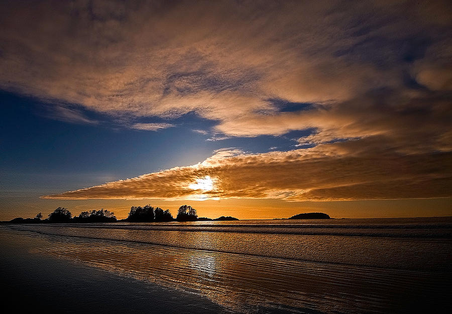 Beach Photograph - Sunset At Tofino by Detlef Klahm