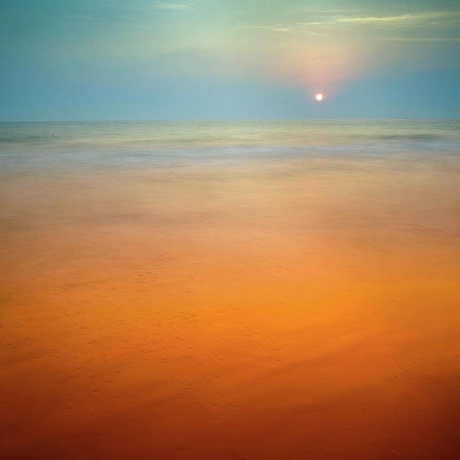 India Photograph - Sunset at Verkala by Peter OReilly