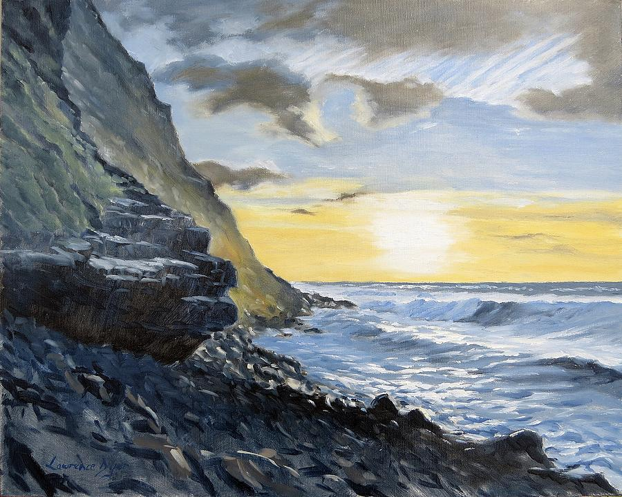 Warren Point Painting - Sunset At Warren Point Duckpool by Lawrence Dyer