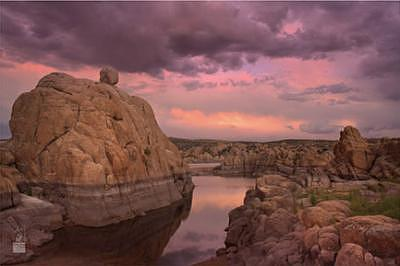 Prescott Photograph - Sunset At Watson Lake by Davin Lavikka