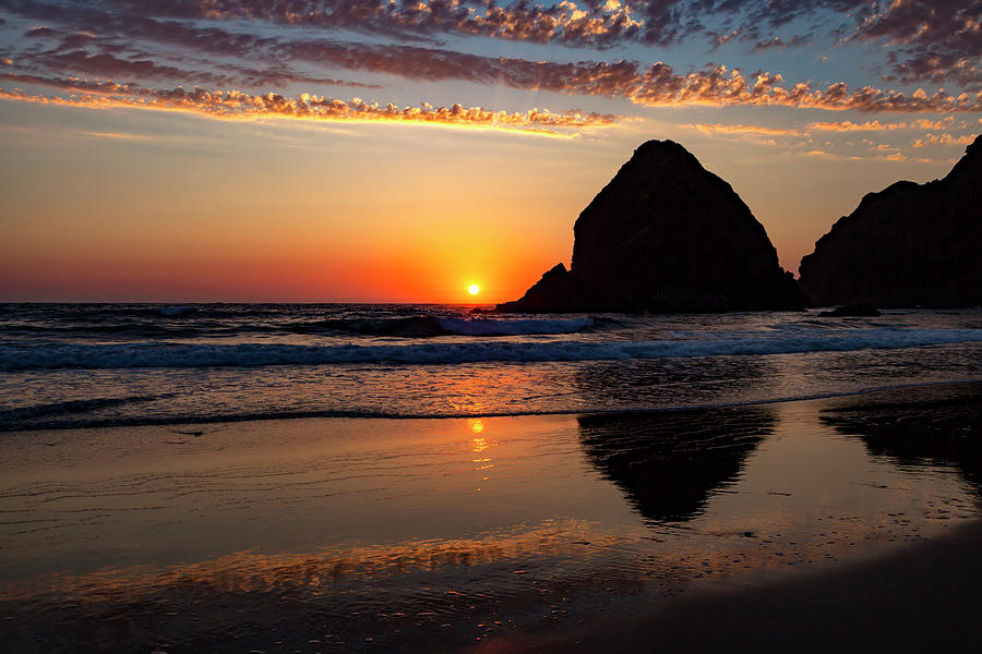 Sunset at Whaleshead Beach by Rick Pisio