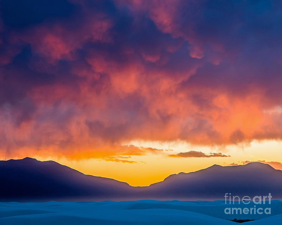 White Sands Photograph - Sunset At White Sands by Stephen Whalen
