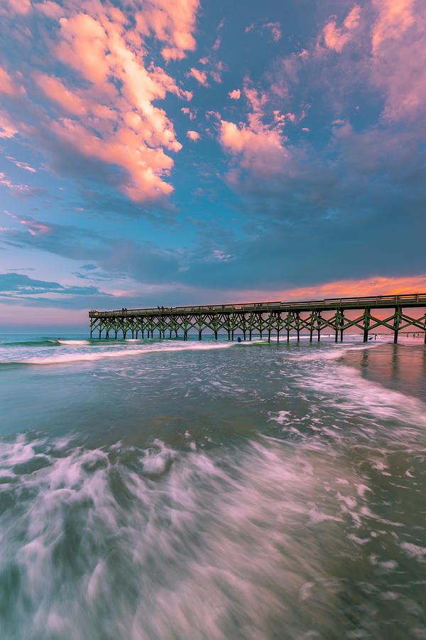Sunset at Wilmington Crystal Pier in North Carolina by Ranjay Mitra
