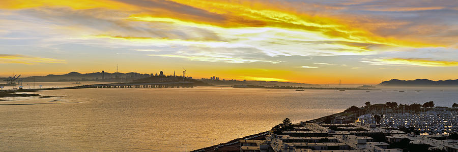 San Francisco Bay Photograph - Sunset Bay by Kelley King