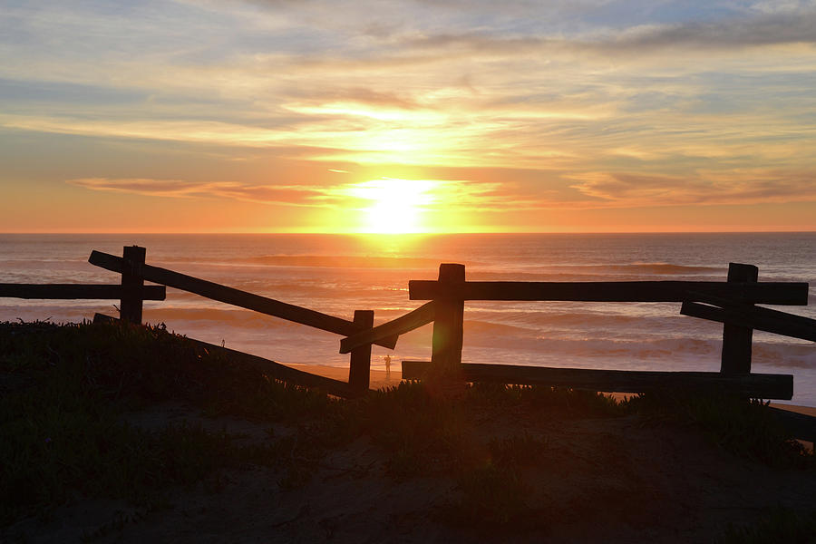 Sunset Photograph - Sunset Fence 2 by D Patrick Miller