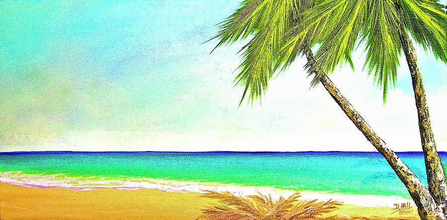 Sunset Beach Painting - Sunset Beach #373 by Donald k Hall
