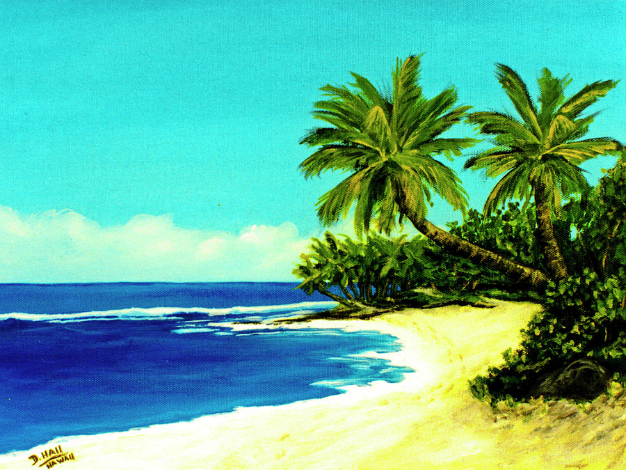 Sunset Beach Painting - Sunset Beach Art North Shore Of Oahu In Summer #100 by Donald k Hall