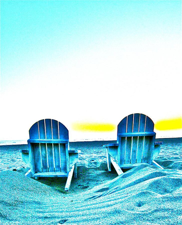 Sunset Beach Chairs Photograph by Jeremy Stewart