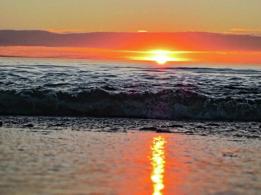 Waves Photograph - Sunset Beach by Douglas Barnard