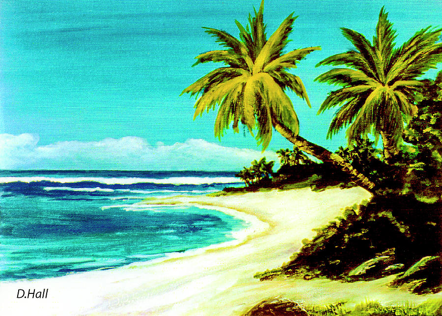 Sunset Beach Painting - Sunset Beach Hawaiian #113 by Donald k Hall