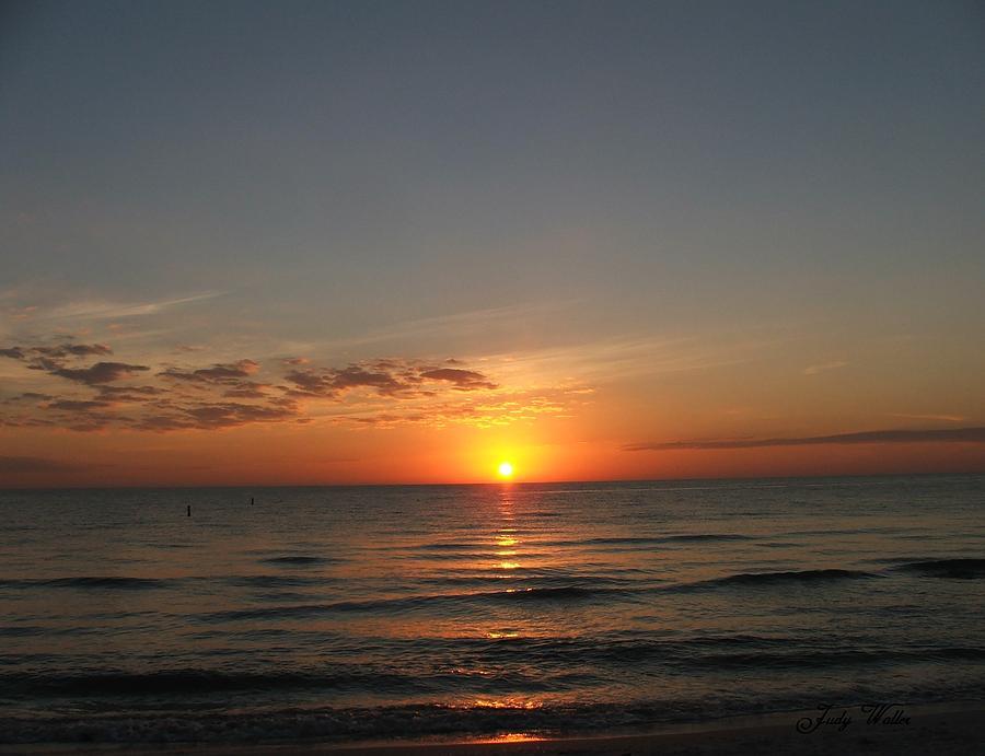 Beach Photograph - Sunset Beach by Judy  Waller