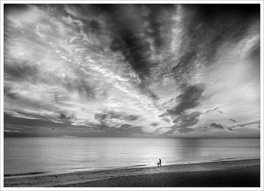 Sunset beach by Richard Greswell