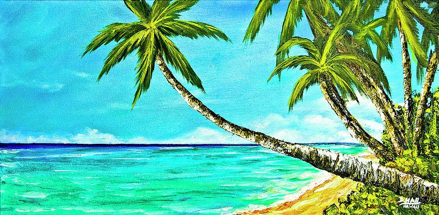 Sunset Beach Painting - Sunset Beach#370  by Donald k Hall