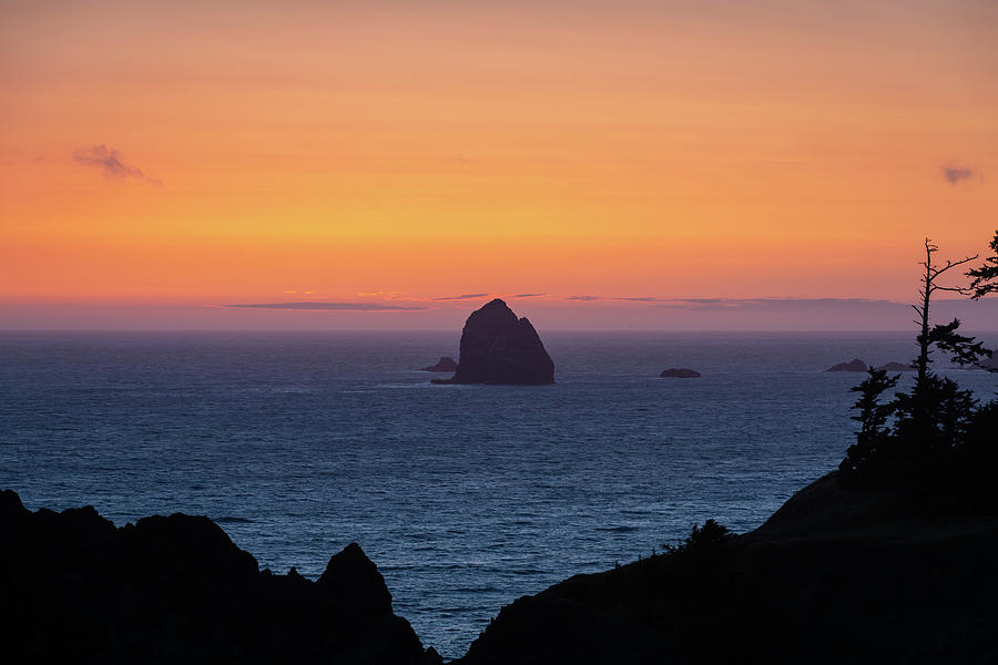 Landscape Photograph - Sunset behind Yellow Rock by M C Hood
