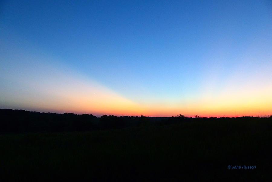 Sunset Digital Art - Sunset Blue by Jana Russon