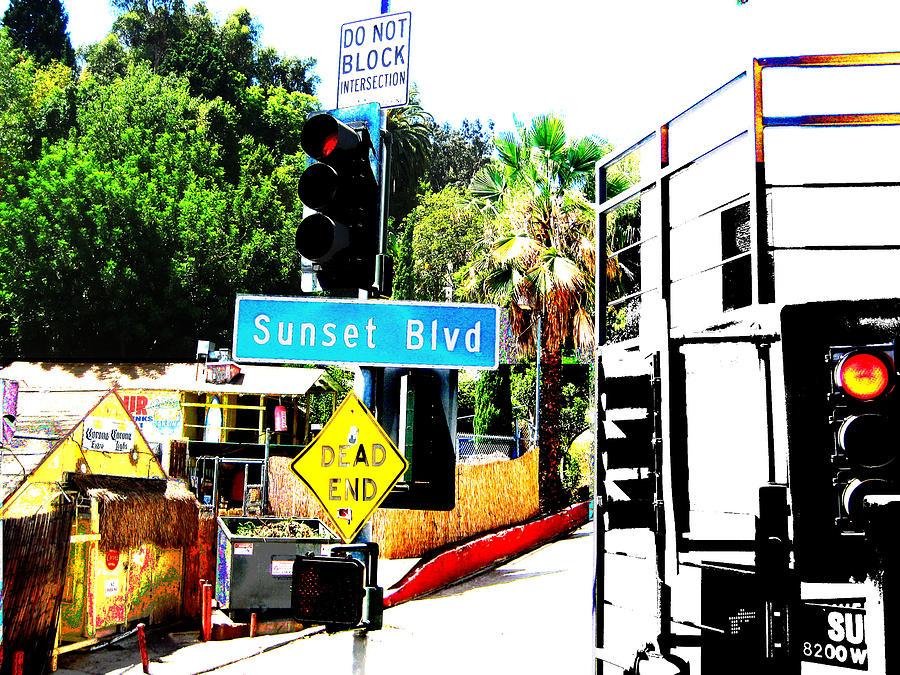 Sunset Blvd Digital Art by Maria Kobalyan