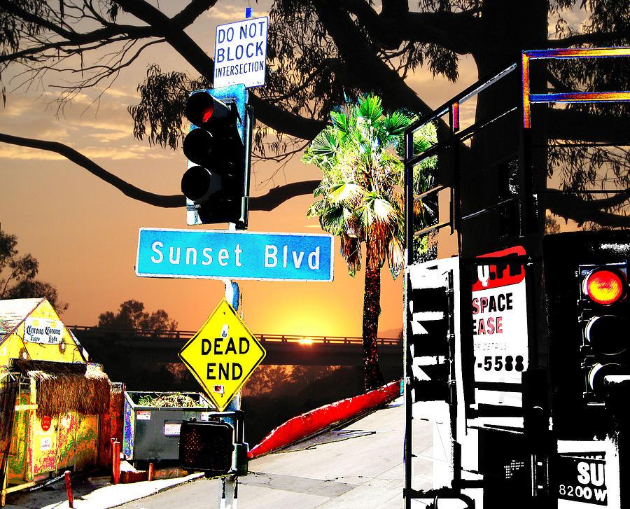 Sunset Blvd Meets Sunset Digital Art by Maria Kobalyan