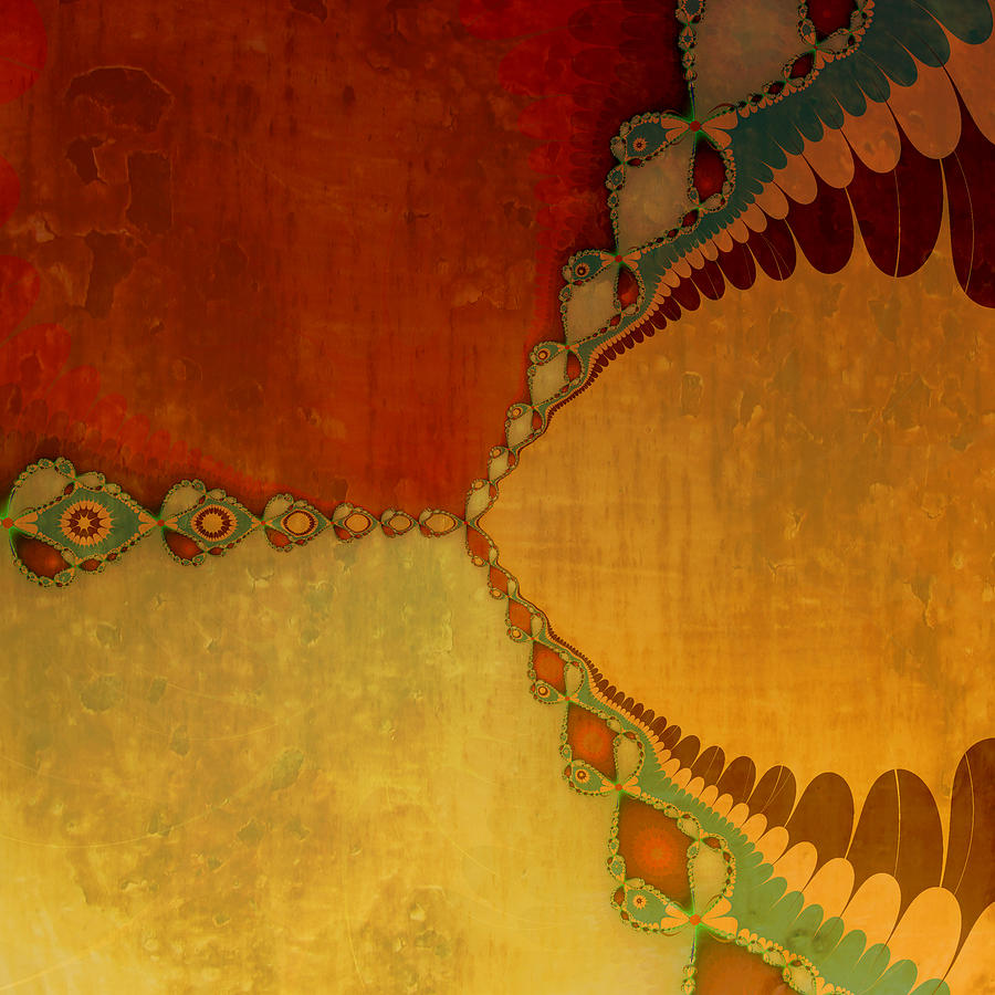 Geometric Digital Art - Sunset by Bonnie Bruno