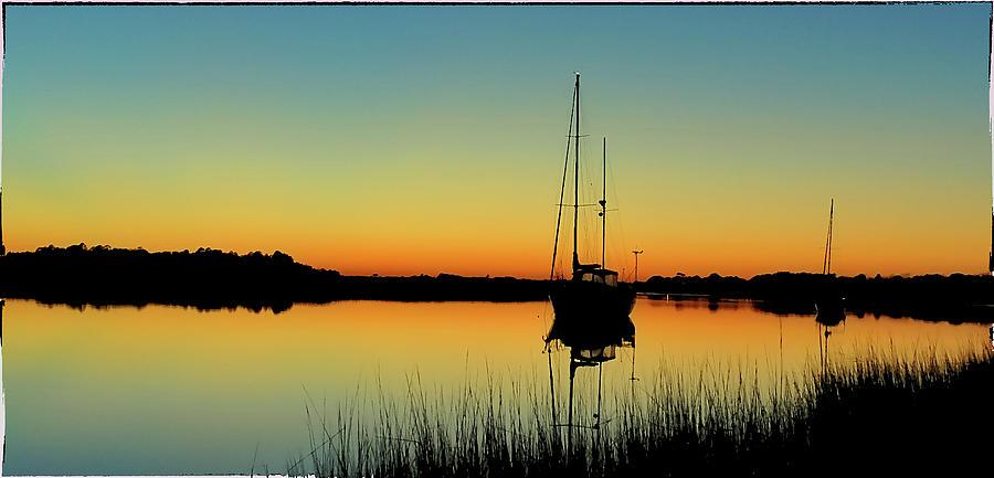 Sunset Photograph - Sunset Bowens Island by Steve Archbold