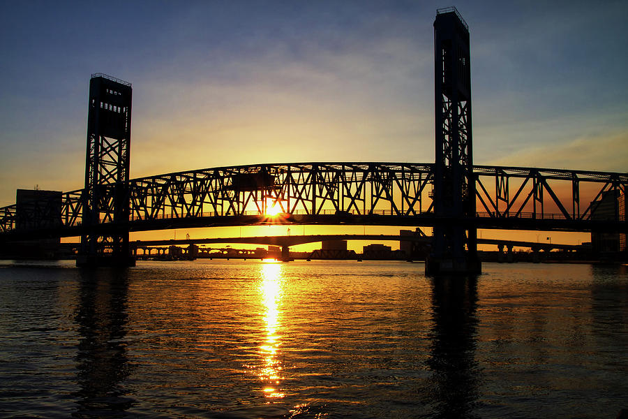 Sunset Photograph - Sunset Bridge 1 by Arthur Dodd