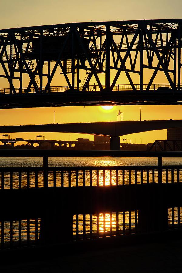 Sunset Photograph - Sunset Bridge 2 by Arthur Dodd