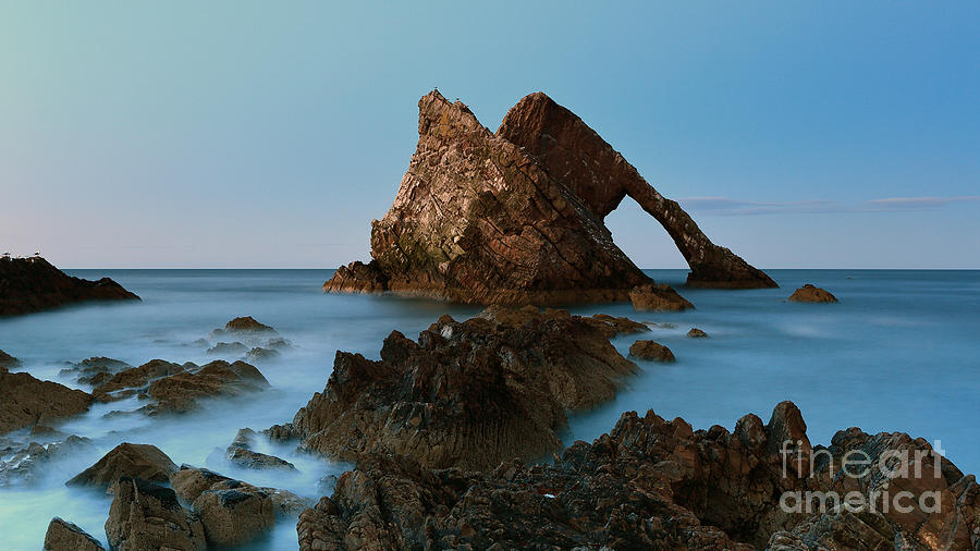 Bow Fiddle Rock Photograph - Sunset By Bow Fiddle Rock by Maria Gaellman