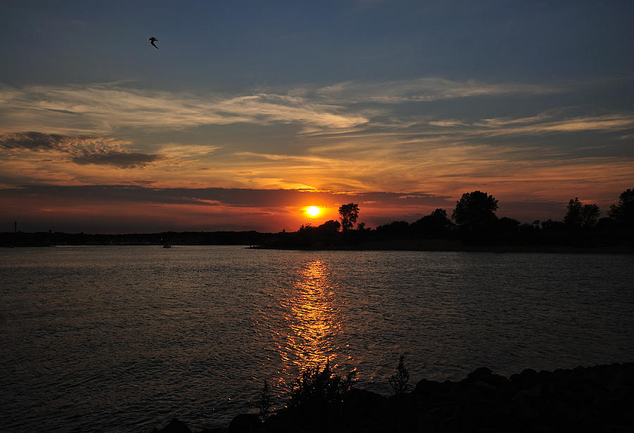 Sunset Photograph - Sunset By The Inlet by Angel Cher