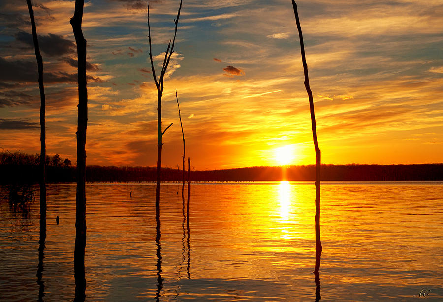 Sunset Photograph - Sunset By The Water by Angel Cher