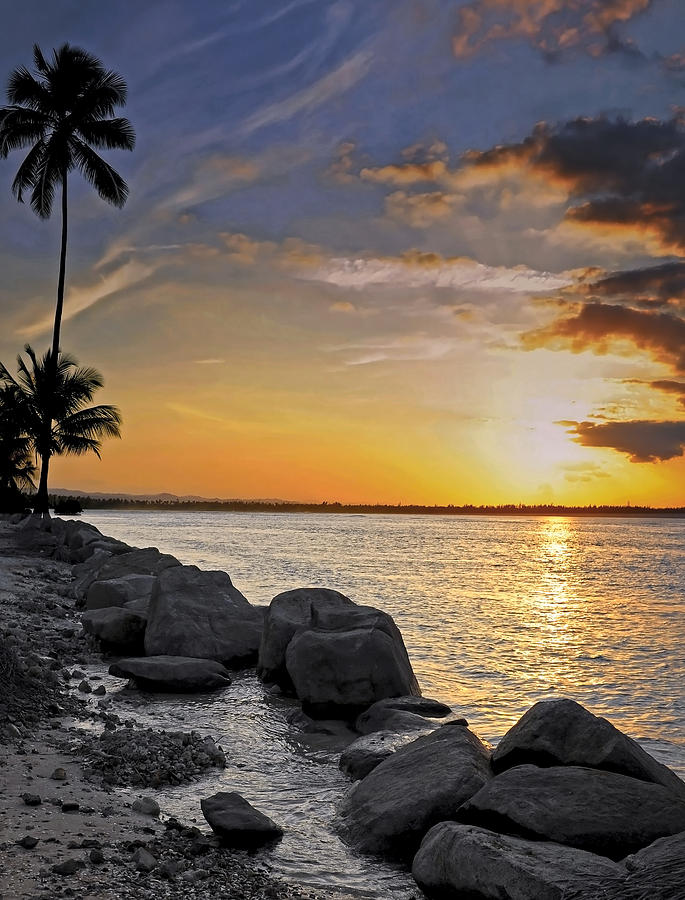 Caribbean Photograph - Sunset Caribe by Stephen Anderson