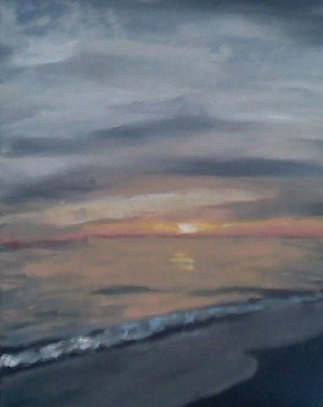 Sunset Painting - Sunset. by Casey Bingham