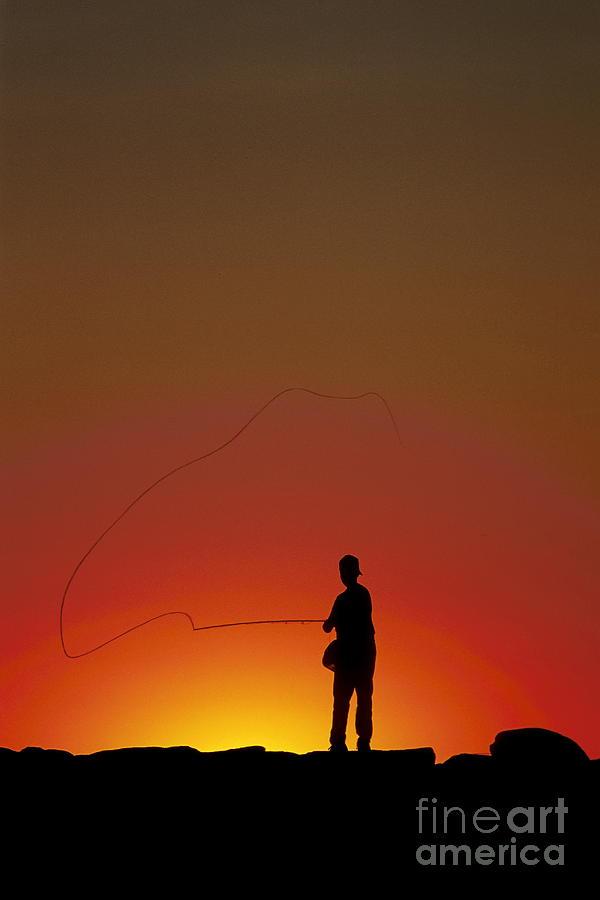 Cape Cod Photograph - Sunset Casting by John Greim
