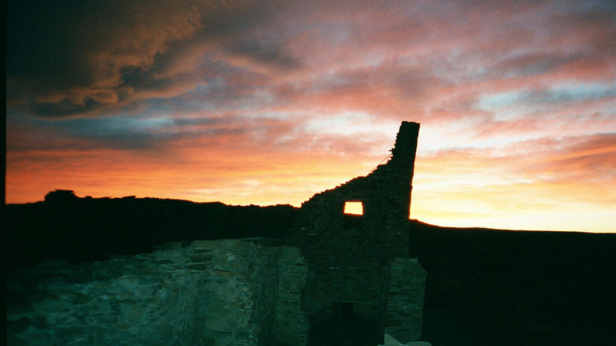 Sunset Photograph - Sunset Chaco Canyon by Chester Taplette