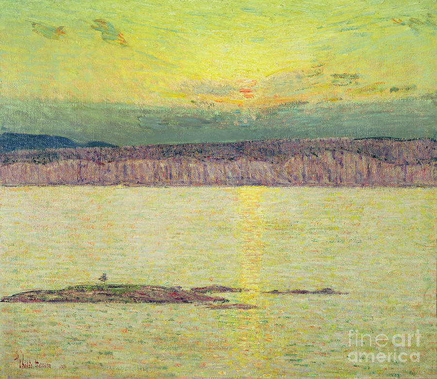 Sunset Ironbound Painting - Sunset by Childe Hassam