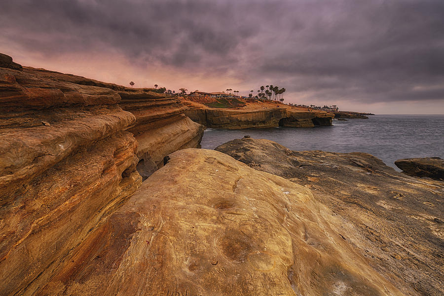 Sunset Cliffs Point Loma San Diego Photograph By