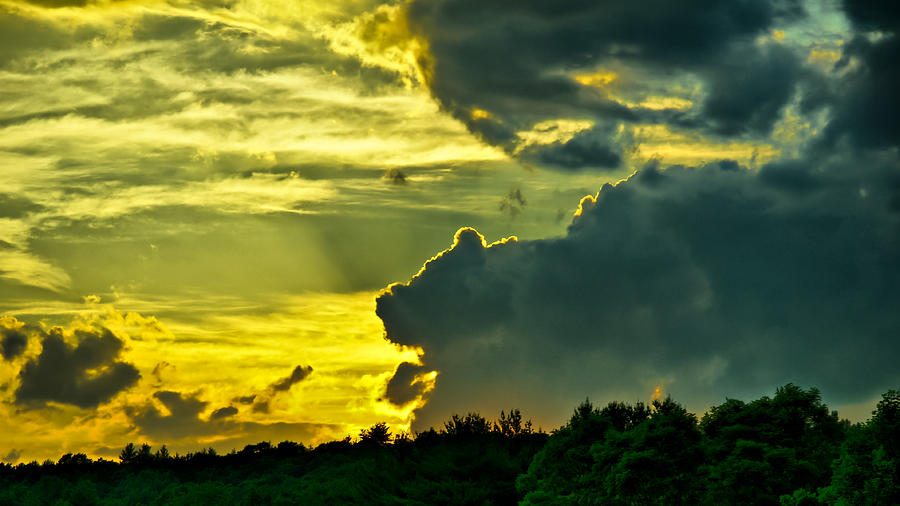Sunset Photograph - Sunset Cloud Animal by Edward Myers