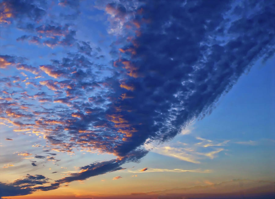 Cornwall Photograph -  Sunset Cloud Formation by Alan Gregory