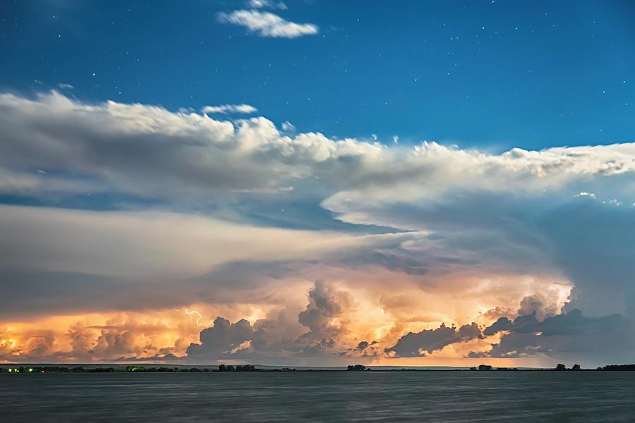 Sunset Cloud To Cloud Lightning Storm Photograph