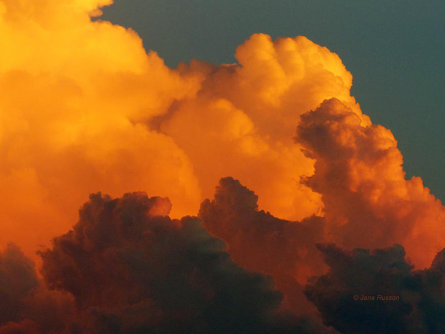 Sunset Digital Art - Sunset Clouds by Jana Russon