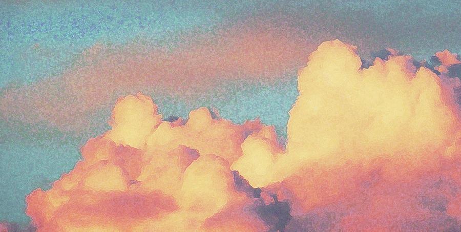 sunset clouds digital art by sally stevens sunset clouds by sally stevens